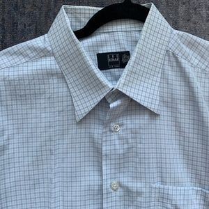 Ike Behar Small Plaid Dress Shirt